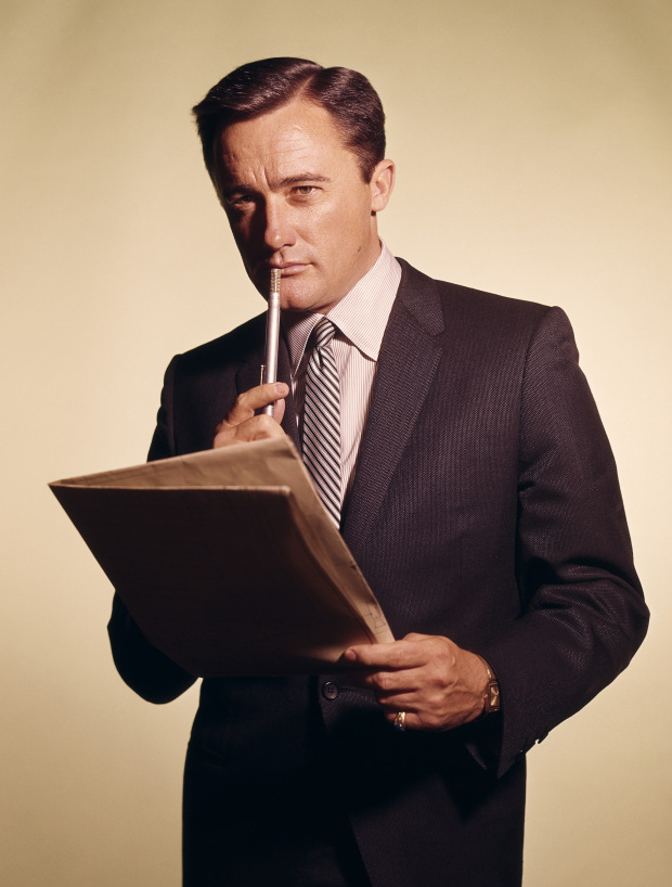 Television Programme: The Man from U.N.C.L.E. with Robert Vaughn as Napoleon Solo. THE MAN FROM U.N.C.L.E. -- Pictured: Robert Vaughn as Napoleon Solo, circa 1965.  (Photo by NBC/NBCU Photo Bank via Getty Images)