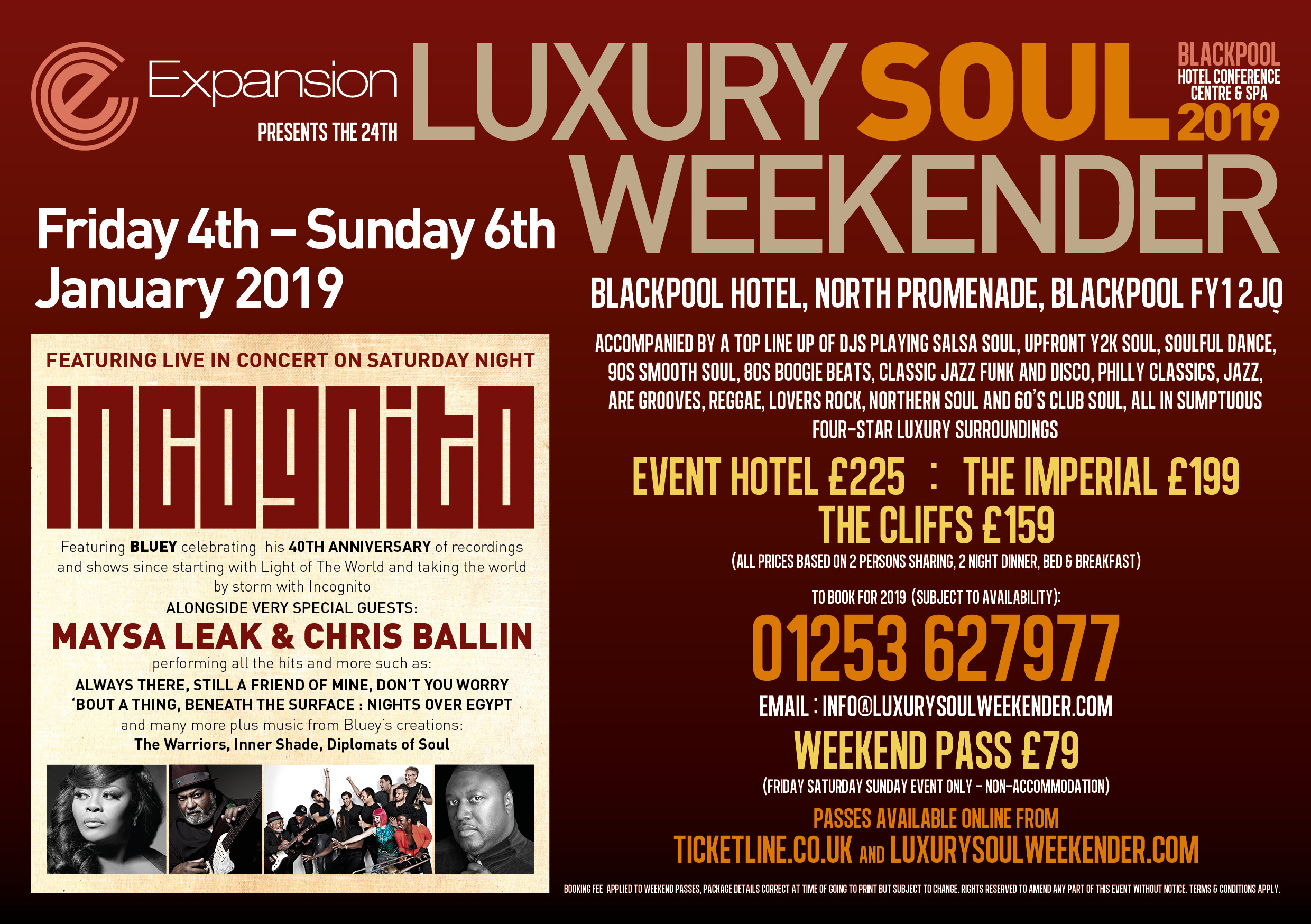 Luxury Soul Weekend Jan 19 with Incognito's 40th Anniversary