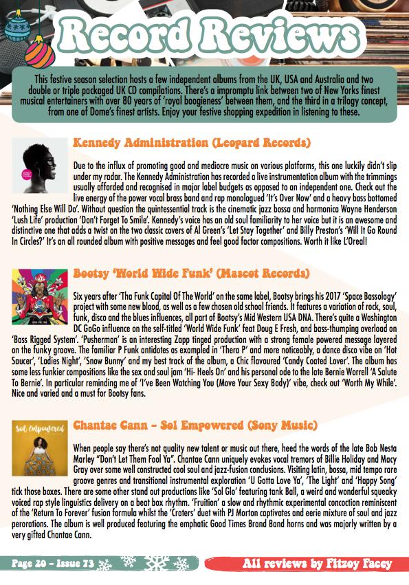 Record Reviews – The Soul Survivors Magazine