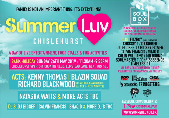 Summer Luv 26th May 2019