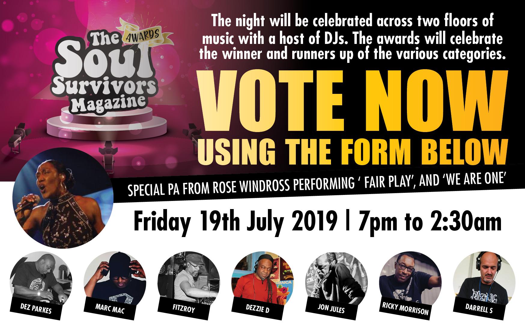 Soul Survivors Awards Voting