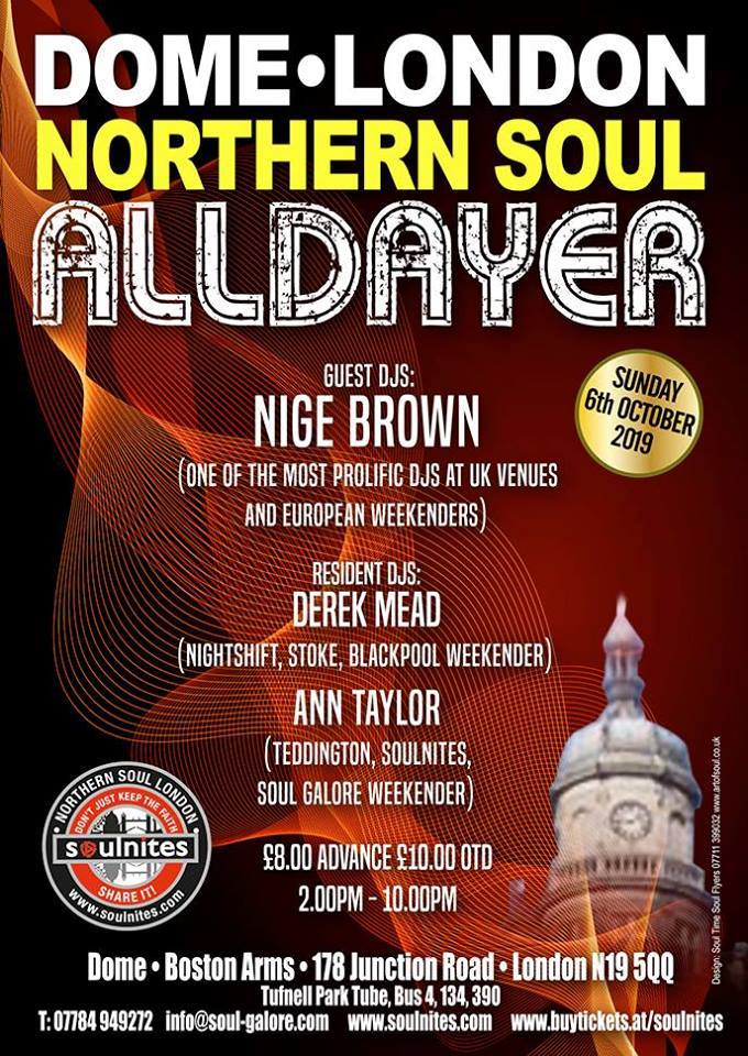Dome London Northern Soul Alldayer
