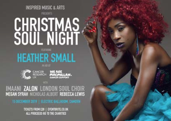 Christmas Soul Night 15th Dec with Heather Smalls