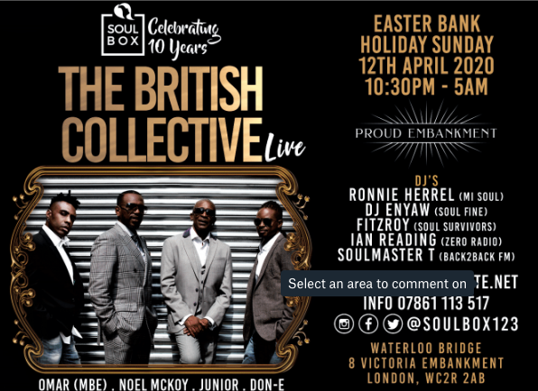 British Collective @ Proud 12th April
